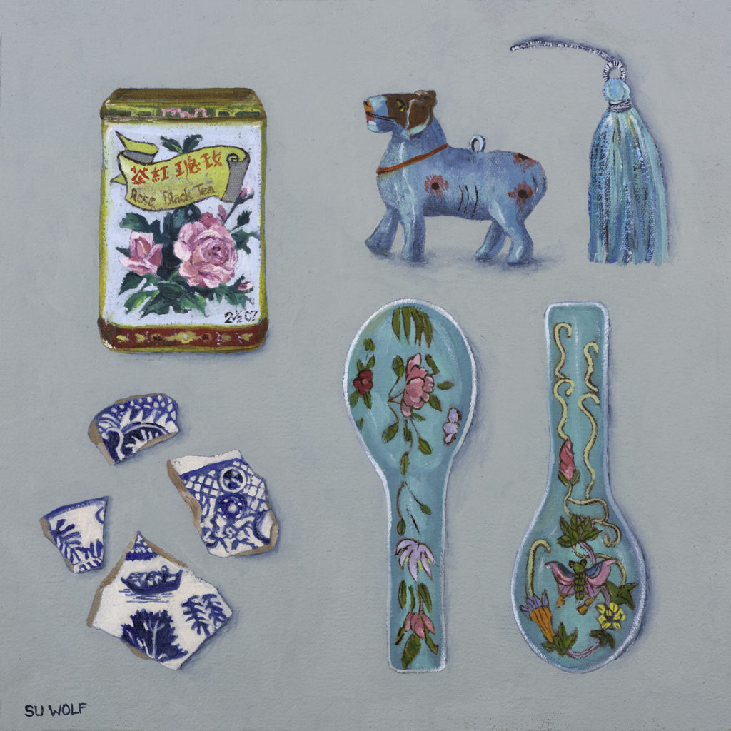 su wolf artist & maker - Travel Treasures - Chinese spoon - oil painting